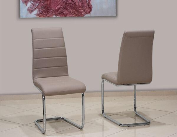 Μοντέρνα καρέκλα τραπεζαρίας με οικολογικό τεχνόδερμα Έπιπλο Καπατζά