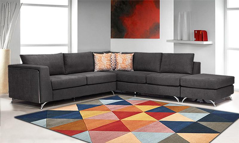 Μοντέρνο σαλόνι γωνία με σκαμπό