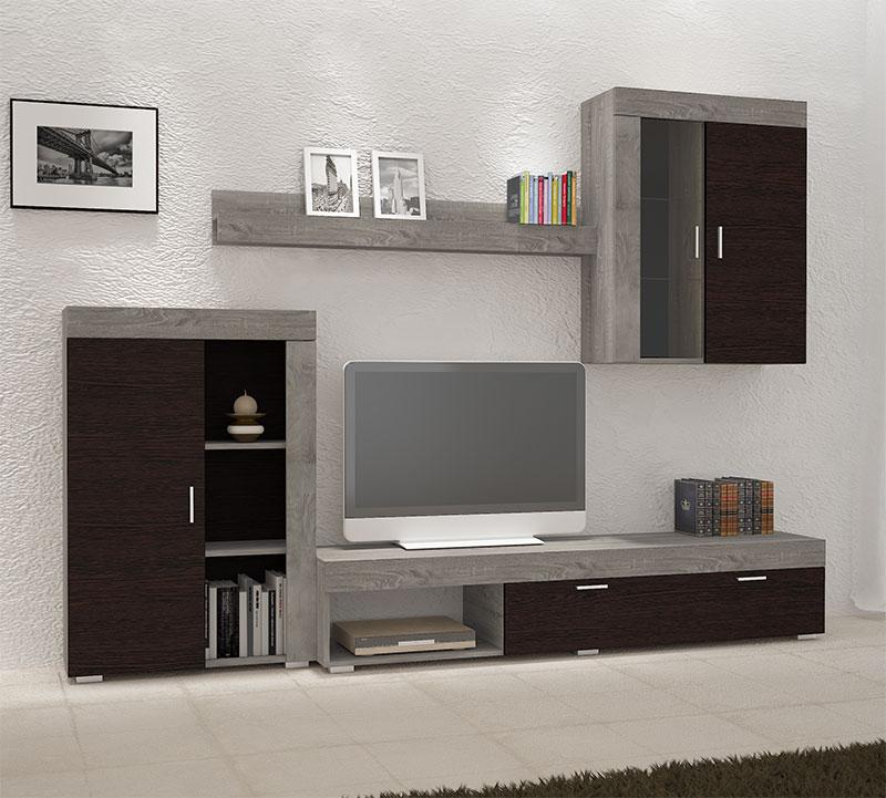 Σύνθεση τηλεόρασης με μηχανισμό φρένου στα πορτάκια Έπιπλο Καπατζά