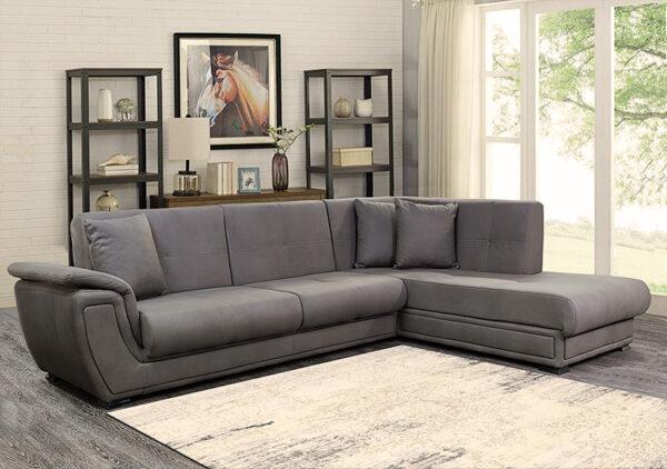 Γωνιακό σαλόνι με μηχανισμό κρεβατιού click clack Έπιπλο Καπατζά