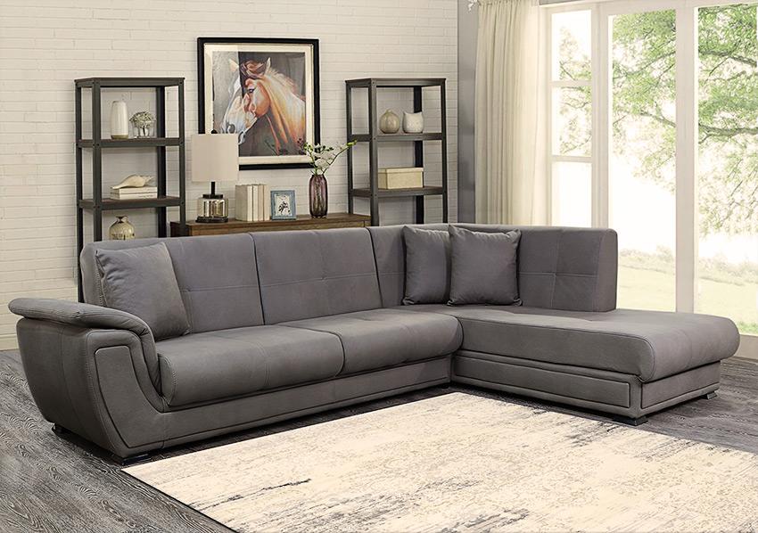 Γωνιακός-καναπές-κρεβάτι-Χρώμα-Elephant-Έπιπλο-Καπατζά-Καναπέδες-Κρεβάτι