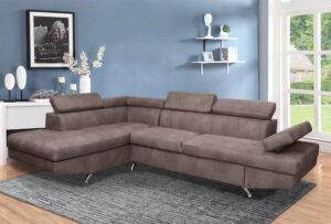Γωνιακός καναπές με διπλό κρεβάτι