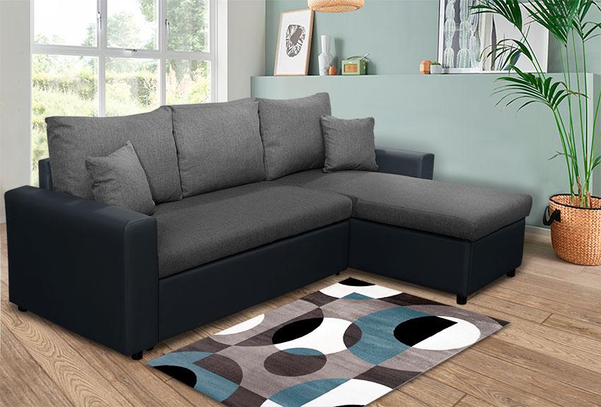 Καναπές γωνία με μηχανισμό κρεβατιού Έπιπλο Καπατζά