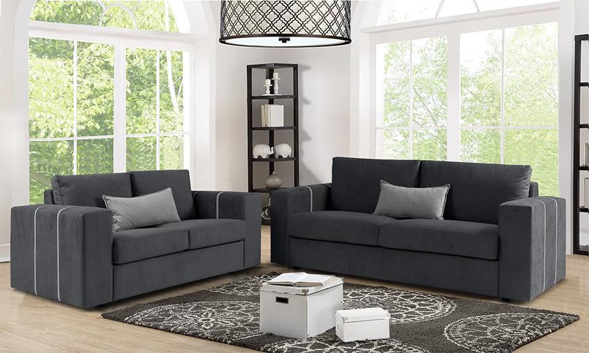 Μοντέρνοι καναπέδες-Τριθέσιος διθέσιος καναπές- Επιπλο Καπατζα