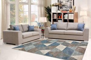 Μοντέρνο σετ σαλονιού διθέσιος και τριθέσιος καναπές