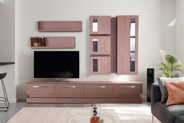 Σύνθετο τηλεόρασης σε δρυ Έπιπλο Καπατζά