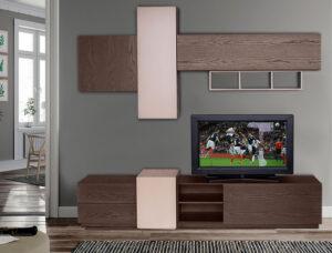 Σύνθετο τηλεόρασης σε δρυ με λάκα Έπιπλο Καπατζά