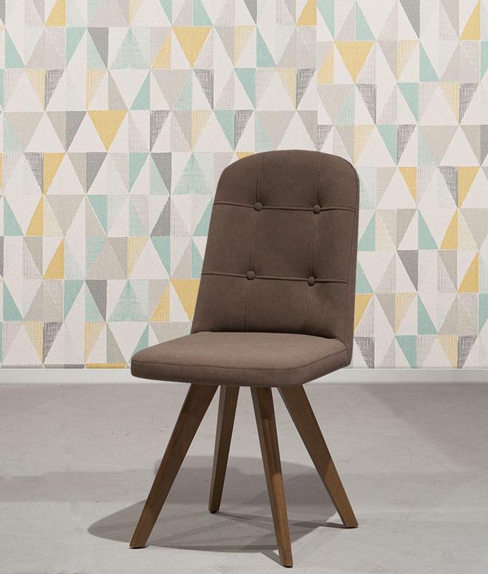 Καπιτονέ καρέκλα τραπεζαρίας με τεχνόδερμα