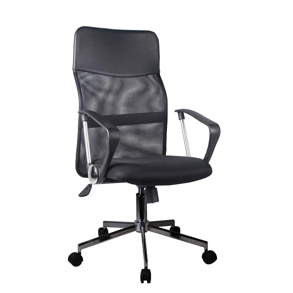 Καρέκλα γραφείου με ρόδες και inox πόδια Έπιπλο Καπατζά (2)