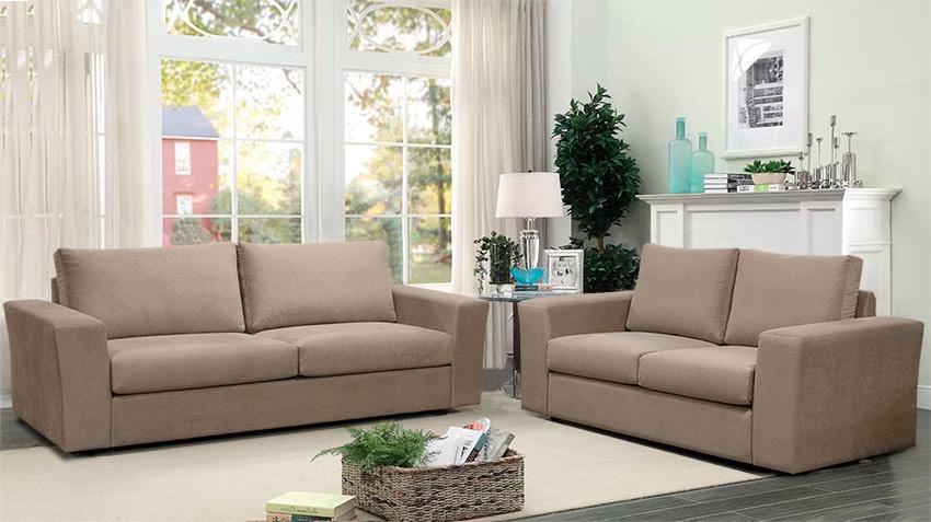 Νεοκλασικό σετ διθέσιος τριθέσιος καναπές