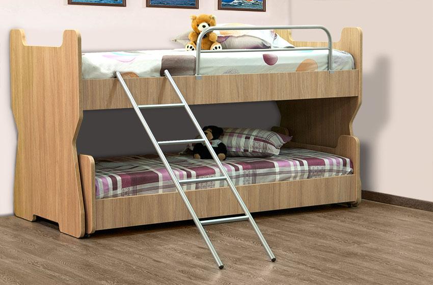 Κουκέτα παιδική με συρόμενο κρεβάτι Έπιπλο Καπατζά