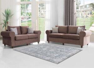 Κλασικό σετ διθέσιος τριθέσιος καναπές
