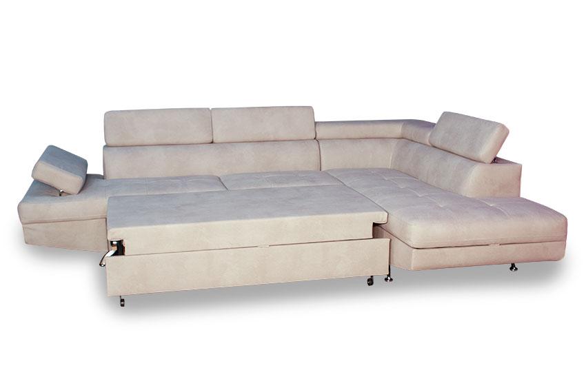 Καναπές γωνία με ανοιχτό διπλό κρεβάτι