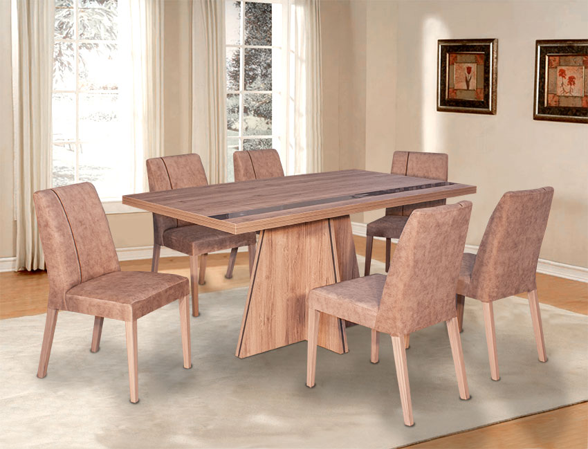 Καθιστικό σετ τραπεζαρίας με καρέκλες σε προσφορά