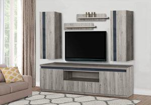 Σύνθεση τηλεόρασης με high gloss MDF