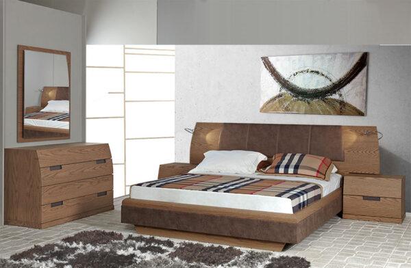 Υπνοδωμάτιο σετ κρεβατοκάμαρας σε ξύλο δρυός
