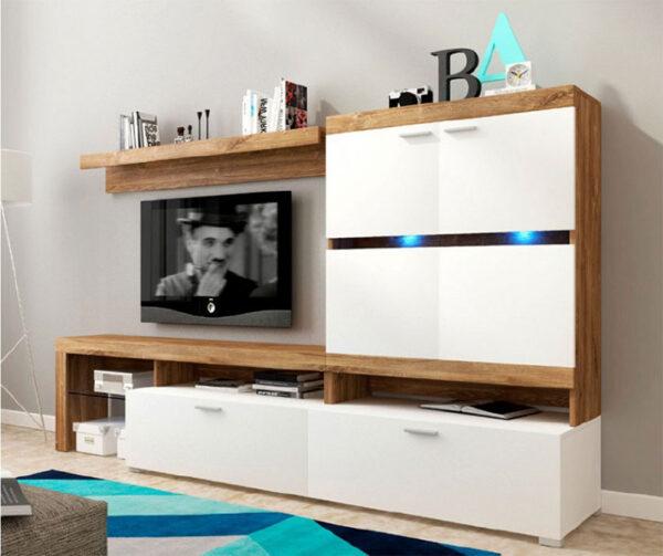 σύνθετο τηλεόρασης σε μοντέρνο καθιστικό δωμάτιο