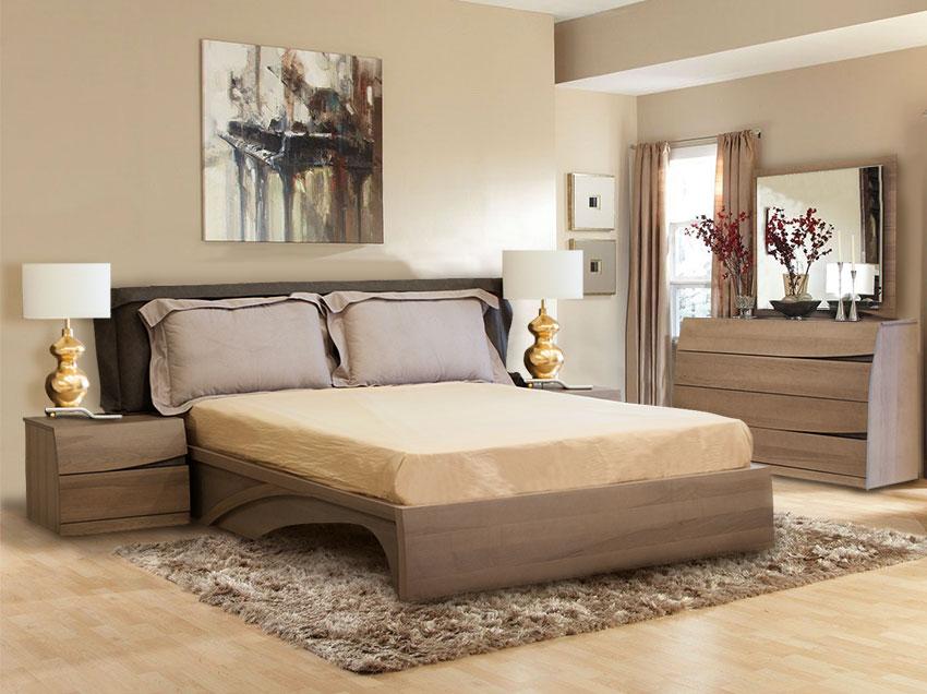 Ολοκληρωμένο σετ κρεβατοκάμαρας από ξύλο ελιάς