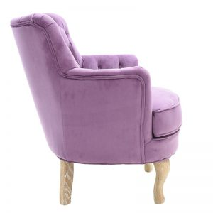 Βελούδινη πολυθρόνα σε New Vintage στιλ