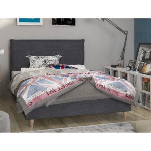 Ημίδιπλο κρεβάτι ξύλινο με επένδυση