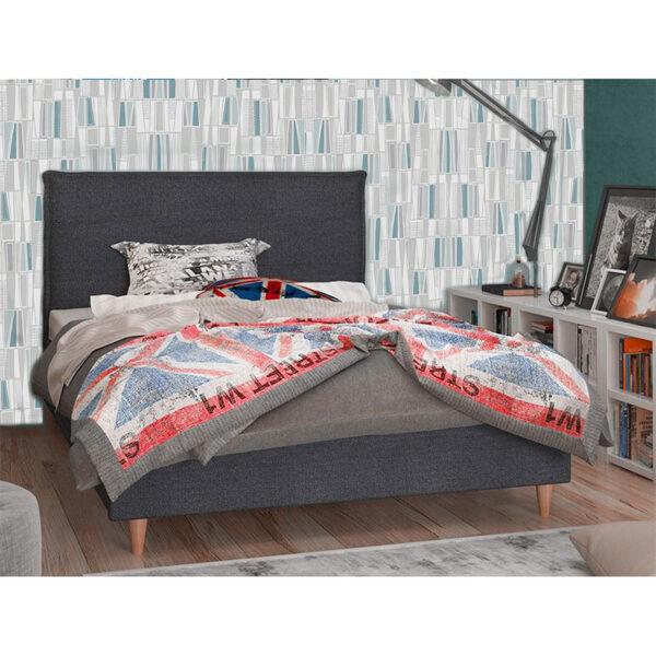 Κρεβάτι ξύλινο ημίδιπλο εφηβικό