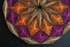 Πίνακας με κλωστές – Γεωμετρικά σχέδια