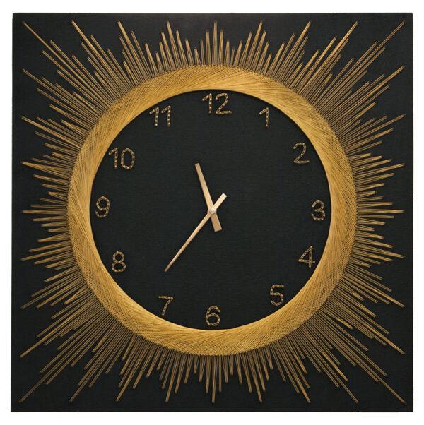 String art - Πίνακας με κλωστές ρολόι