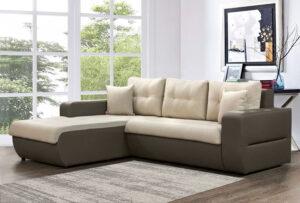 Γωνιακός καναπές κρεβάτι με αποθηκευτικό χώρο
