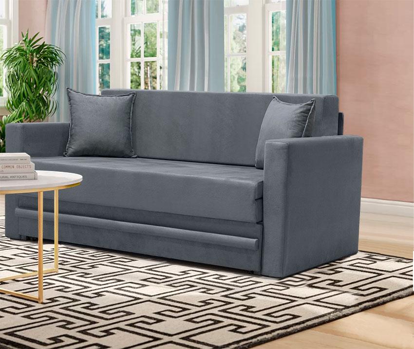 Καναπές διθέσιος με συρόμενο μηχανισμό κρεβατιού