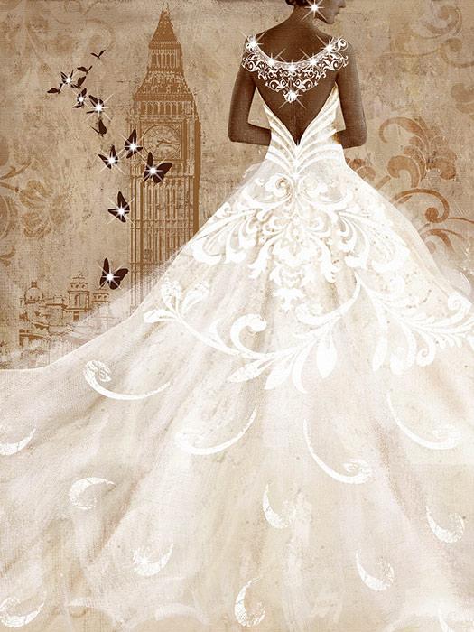 Πίνακας-Γυναικεία-Φιγούρα-με-άσπρο-φόρεμα-60X80