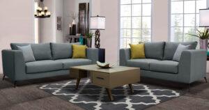 Σαλόνι διθέσιος τριθέσιος καναπέδες με αδιάβροχο ύφασμα