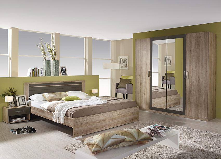Σετ-κρεβατοκάμαρας-με-Ανοιγόμενη-Ντουλάπα-Φυσικό-Χρώρα-Υπνοδωμάτιο