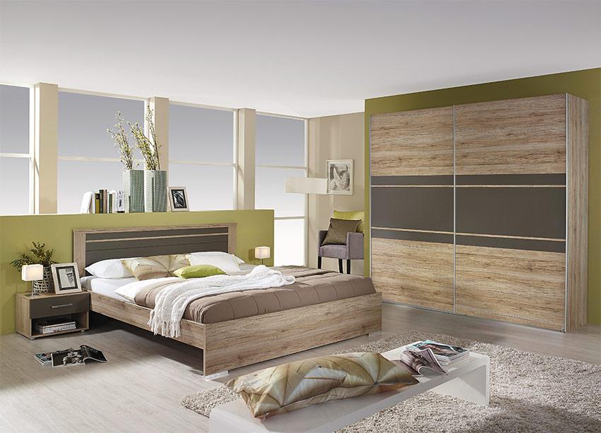Σετ κρεβατοκάμαρας σε μοντέρνο σχεδιασμό Φυσικό Χρώρα Υπνοδωμάτιο