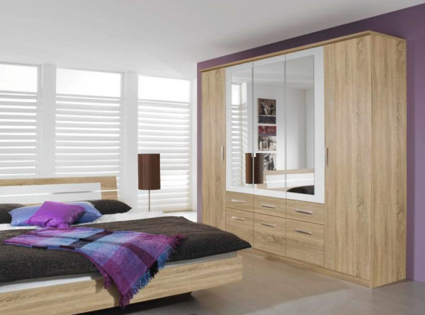 Πενταφυλλη ντουλαπα με συρταρια