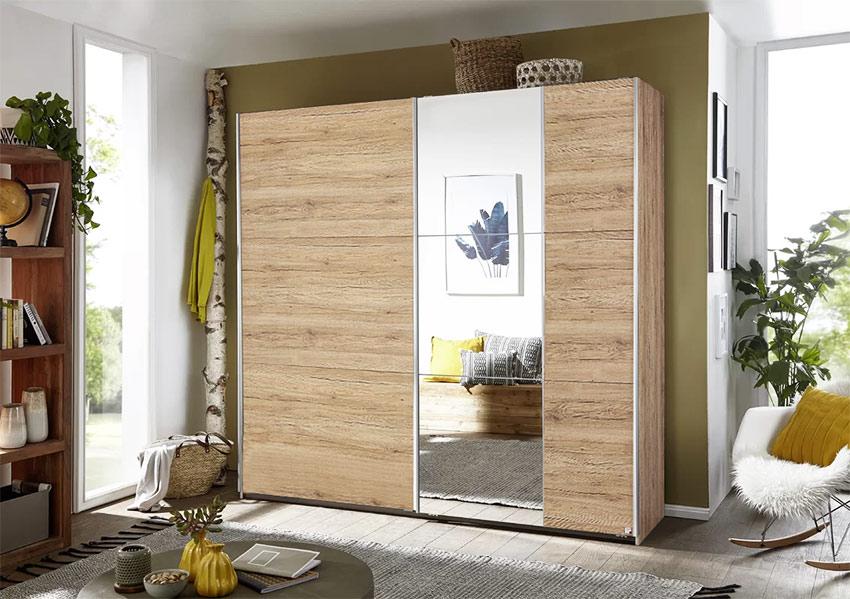 Ντουλάπα-2-συρόμενες-πόρτες-και-καθρέπτη-σε-φυσικό-χρώμα