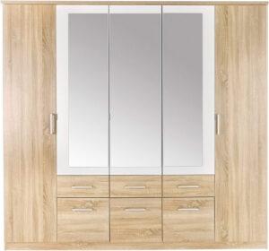 Πεντάφυλλη ντουλάπα με 6 συρτάρια
