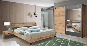 Σετ Υπνοδωματίου Κρεβατοκάμαρες Υπνοδωμάτιο Σετ Κρεβατοκάμαρας Ντουλάπα Κομοδίνο Κρεβάτι Έπιπλο Καπατζά