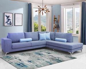 Μοντέρνο σαλόνι γωνία με Inox πόδια