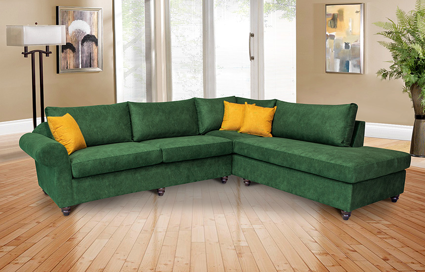 Γωνιακός νεοκλασικός καναπές